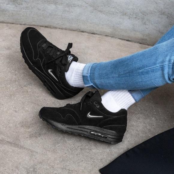 Nike Shoes   Air Max 1 Premium Sc Black Metallic Silver W